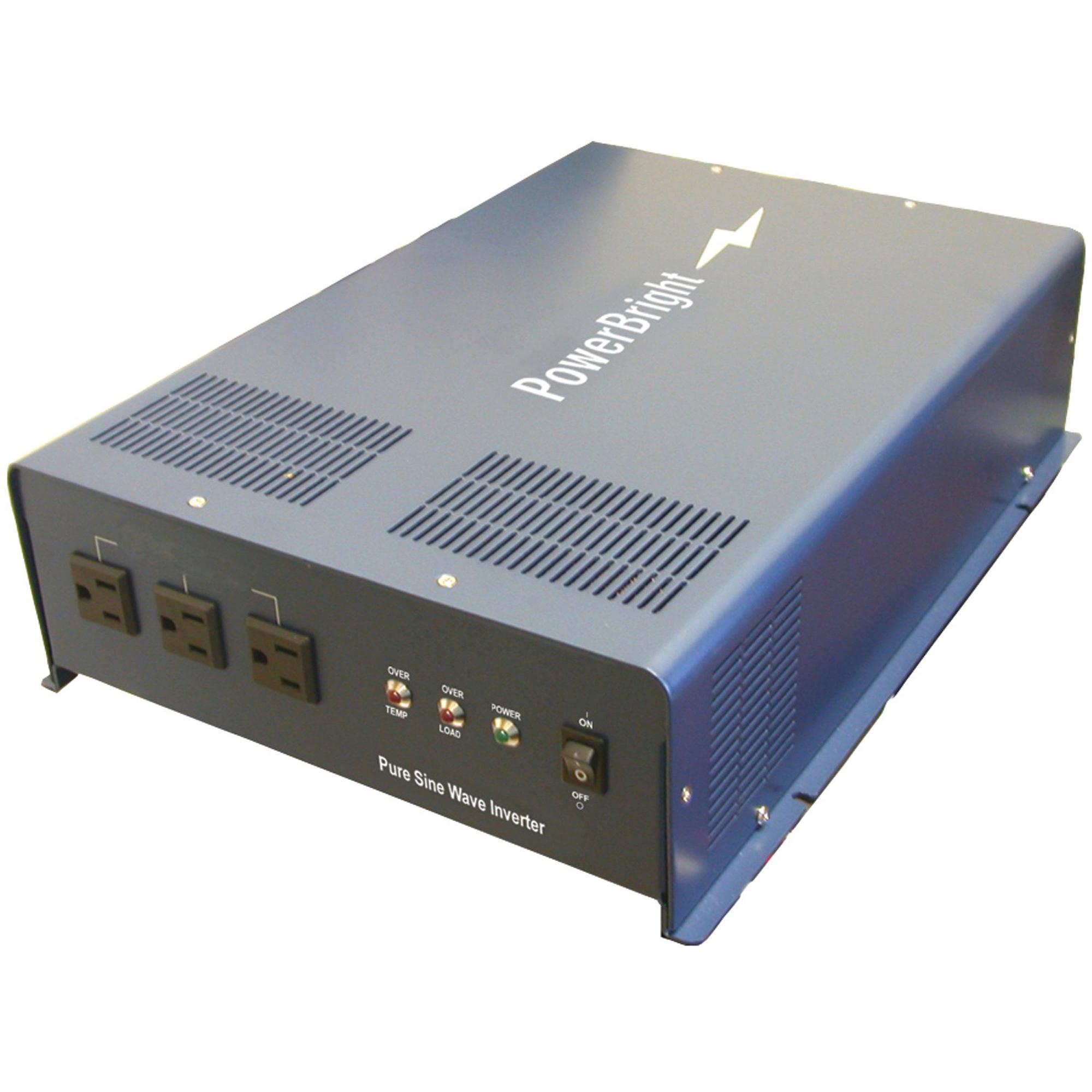 PowerBright APS2200-12 2,200-Watt 12-Volt Pure Sine Wave Inverter