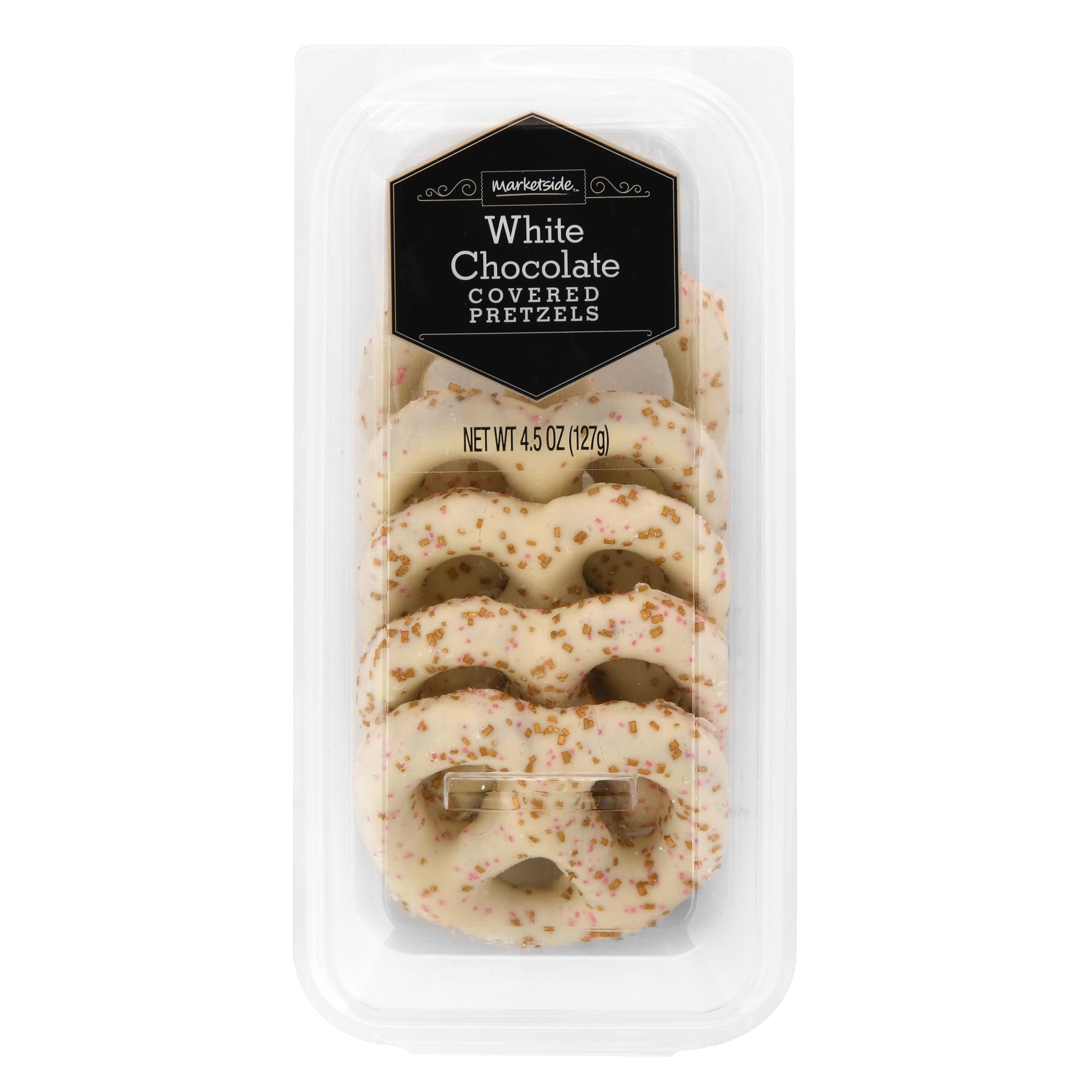 Marketside White Chocolate Covered Pretzels, 4.5 oz, 5 Count ...