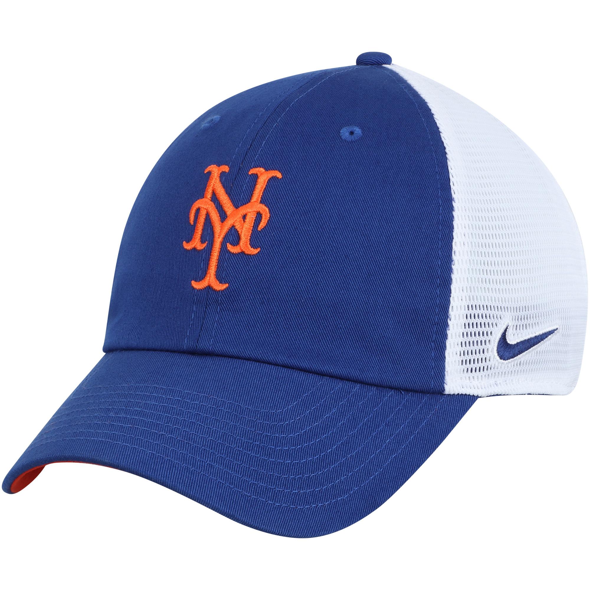 New York Mets Nike Heritage 86 Team Trucker Adjustable Hat - Royal/White - OSFA