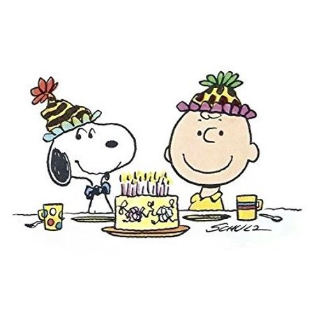 1/4 Sheet Charlie Brown and Snoopy Edible Frosting Cake Topper* - Snoopy Birthday
