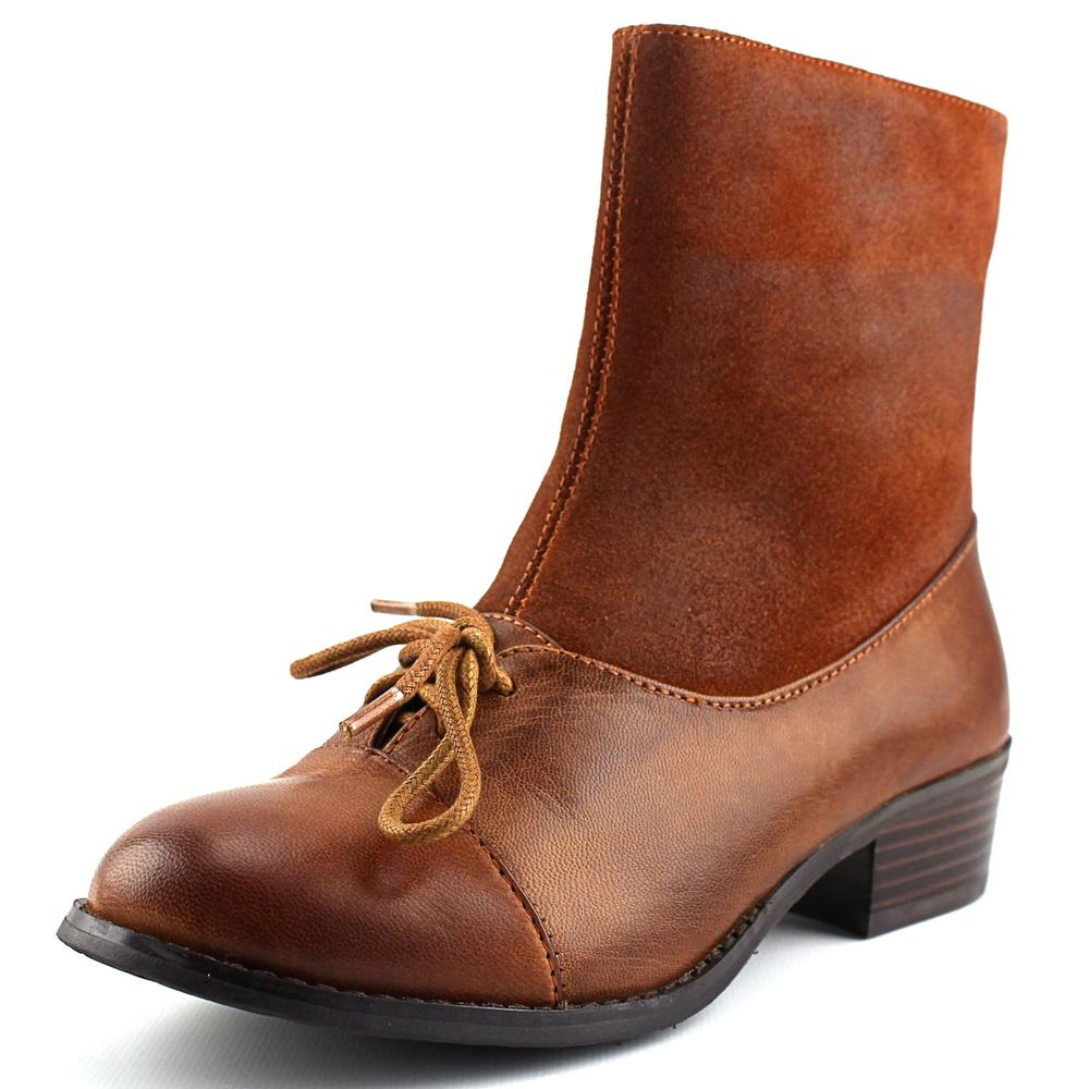 Antelope 342 Women  Round Toe Leather Brown Ankle Boot