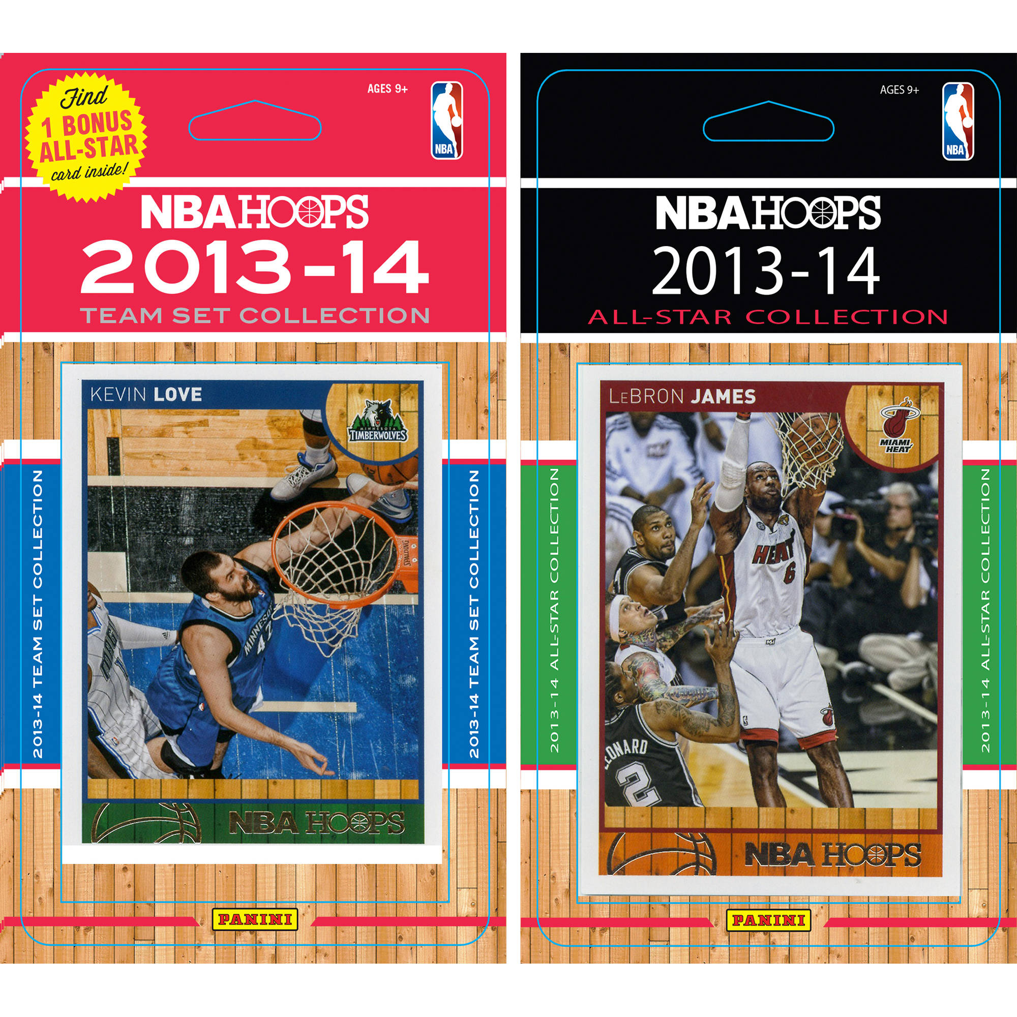 C&I Collectables NBA Minnesota Timberwolves Licensed 2013-14 Hoops Team Set Plus 2013-24 Hoops All-Star Set