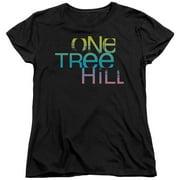 One Tree Hill Color Blend Logo Womens Short Sleeve Shirt