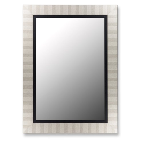 "Parma Silver Mirror with Satin Black Liner-Size:29"" x 39"" by Hitchcock Butterfield"