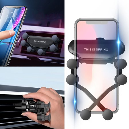 Car Phone Holder, EEEKit Air Vent Cell Phone Car Mount Support Auto-Retractable Gravity Automatic Locking Clip Holder Universal for Smartphone 4.7
