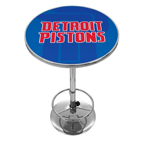 NBA Chrome Pub Table - Fade - Detroit Pistons Detroit Lions Pub Table