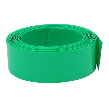 Interconnect 6 Meter (Unique Bargains 23mm Flat Width 6 Meter Long PVC Heat Shrinkable Tube Green for AA Battery Pack )