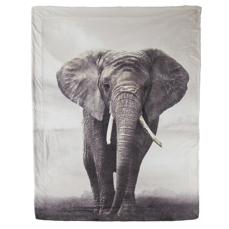Bedsure Elephant Sherpa Throw Blanket Animal Bed Blanket 50x60 Reversible Throw Fuzzy Soft Microfiber Blanket Walmart Com Walmart Com