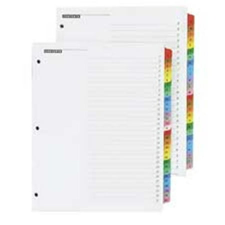- Cardinal Brands- Inc  One Step Index System- Alphabetical- A-Z- 23-Tab- Clear