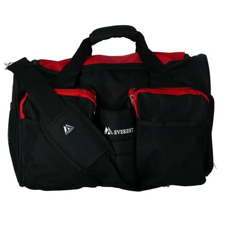 Everest S223-RD 18 in. 600 Denier Polyester Sports Duffel Bag with Wet Pocket - image 1 de 6