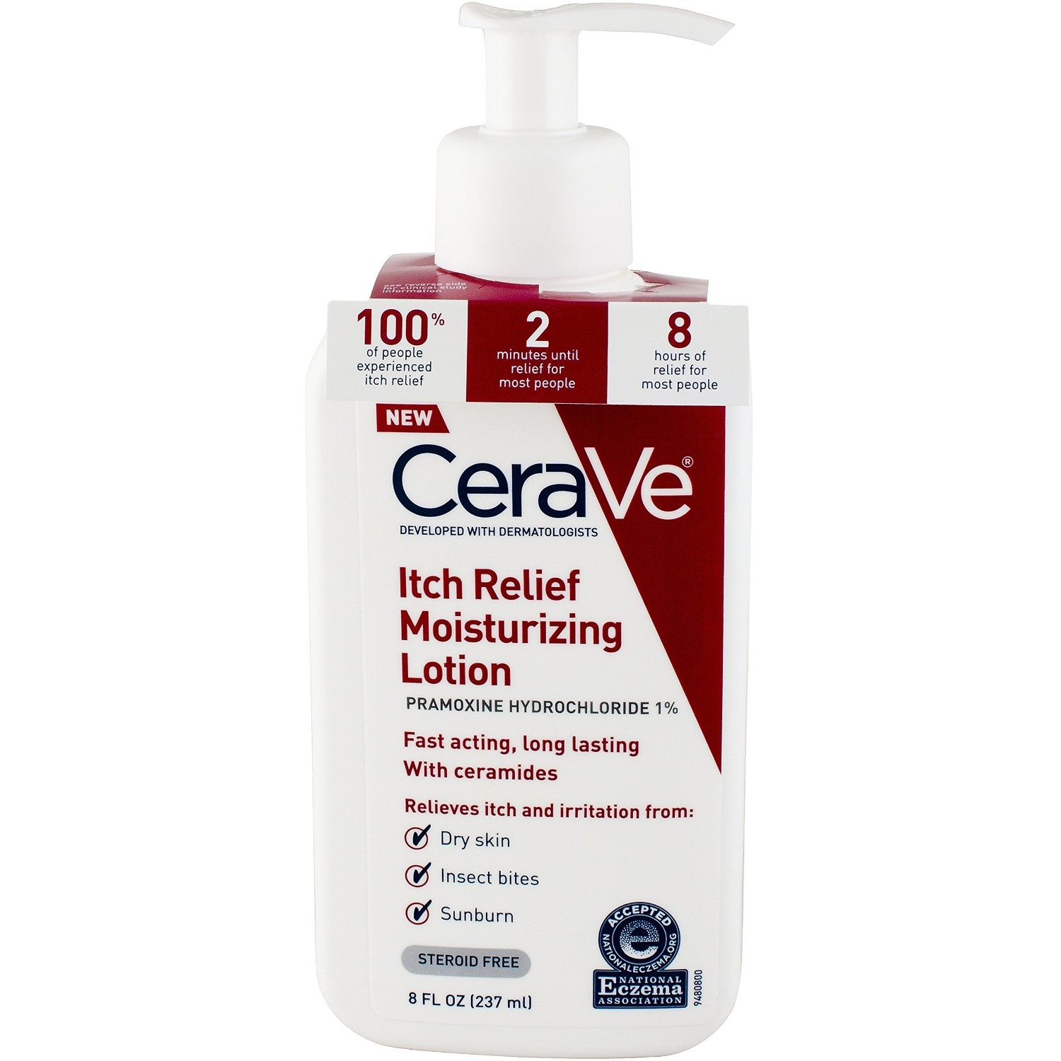 CeraVe Itch Relief Moisturizing Lotion, 8 fl oz