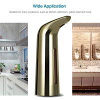 Clearance! Touchless Automatic Soap Dispenser, 300ml Battery Powered Infrared Motion Sensor Soap Dispenser, IPX6 Waterproof Hands-free Soap Dispenser for Kitchen, Bathroom, Toilet, Wood Grain, S770