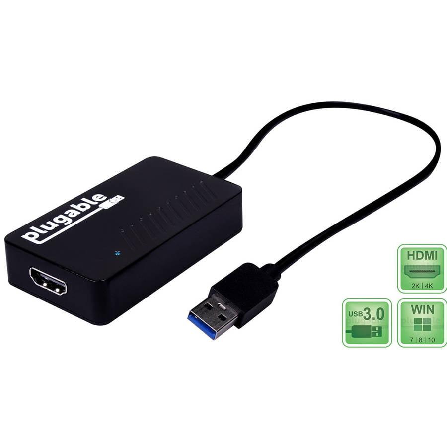 Plugable USB 3.0 4K HDMI Adapter for Multiple Monitors