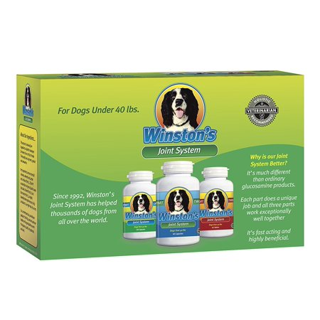 Winstons Joint System   For Small Dogs Under 35 Pounds   100  Natural Whole Food Supplement System For Canine Arthritis  Hip Dysplasia And Joint   Pain Relief   One Month Supply
