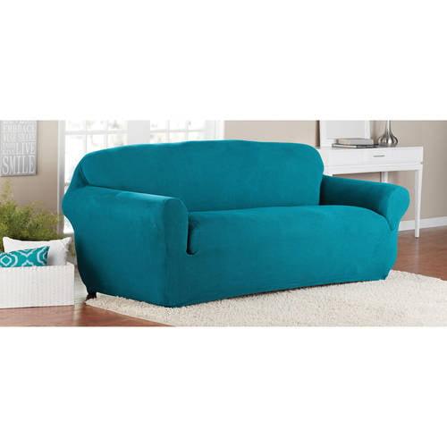 1 Piece Stretch Sofa Slipcover Aqua, Aqua Sofa Slipcover