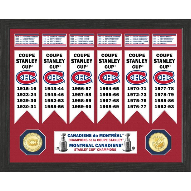 Montreal Canadiens Highland Mint 15 X 12 Stanley Cup Banner Collection Photo Mint Walmart Com Walmart Com