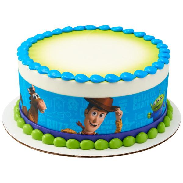 Remarkable Disney Pixar Toy Story Friends Edible Cake Image Strips Walmart Personalised Birthday Cards Arneslily Jamesorg