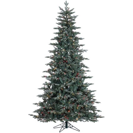 Vickerman 7.5\' Crystal Frosted Balsam Fir Artificial Christmas Tree ...