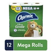 Charmin Ultra Gentle Plus Lotion Toilet Paper, 12 Mega Rolls