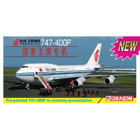Dragon 1:144 Air China 747-400P Plastic Model Kit #14701 ()