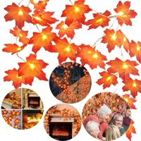 Reactionnx Thanksgiving LED Maple Leaf String Light Christmas Holiday Decoration Wedding Outdoor Lantern Party Light