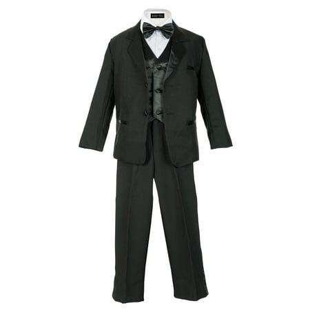 Avery Hill Boy's Formal 5 Piece Tuxedo Suit Dresswear Set (Toddler, Little Boys, Big Boys) Collection Boys 5 Piece Suit