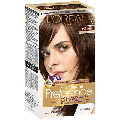L'Oreal Paris Superior Preference Permanent Hair Color, Dark Golden Brown 4G 1.0 ea(pack of 12)