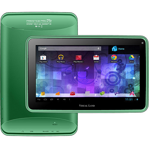 "Visual Land Prestige Pro 7"" Tablet 8GB Memory Dual Core"