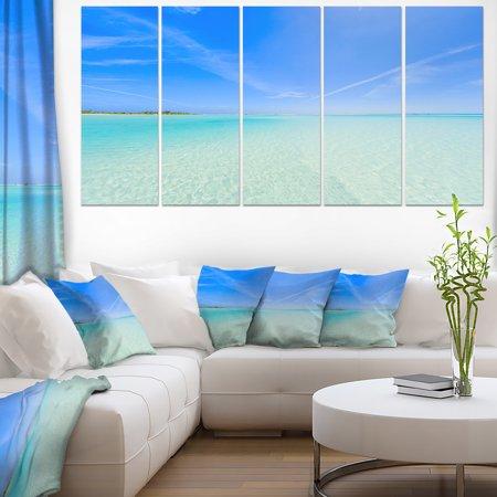 Tropical Beach in Cayo Largo Island - Modern Seascape Canvas Artwork - image 3 de 3