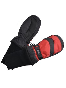Medium Black/Red 2-tone Mittens