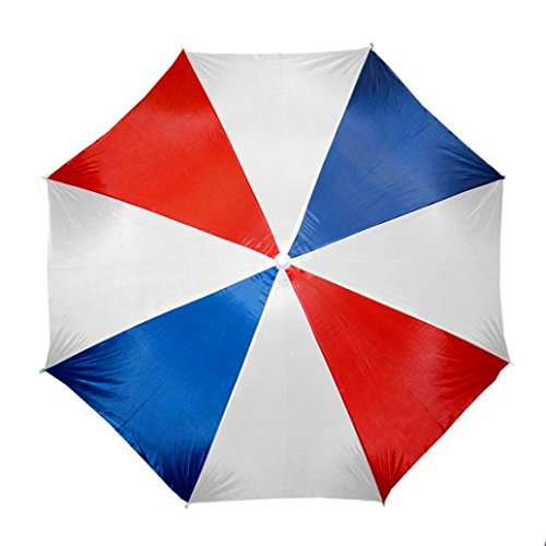 """Beach Umbrella 72"""" Wide & 72"""" High (Red Blue white) by Home Innovations"""