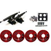 RANDAL 180MM BLACK LONGBOARD & WHEELS PACKAGE BIGFOOT 65MM ISLANDERS RED