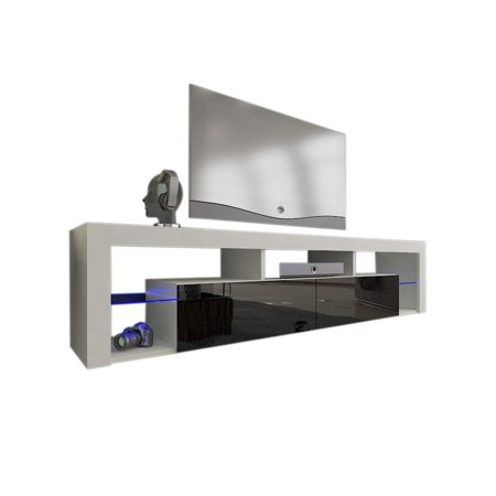 Milano 200 Wall Mounted Floating Led 79 Tv Stand White Black