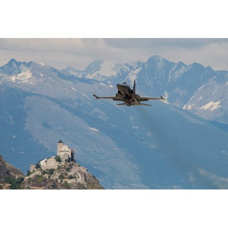 Swiss Air Force F-5E Tigers above Sion Air Base Sion Switzerland Poster Print by Timm ZiegenthalerStocktrek Images Air Force Tiger Stripe
