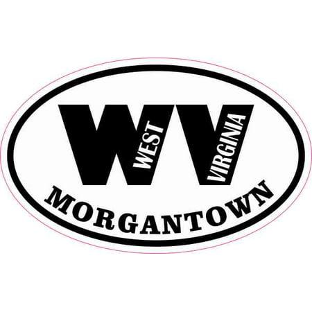 4x2.5 Oval WV Morgantown West Virginia Sticker Car Truck Vehicle Bumper
