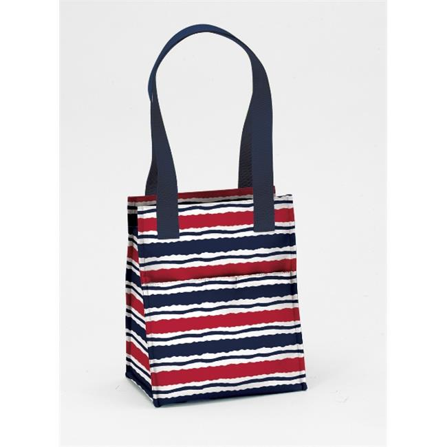 Joann Marrie Designs NLB2MS Large Lunch Bag - Marina Stripe, Pack of 2