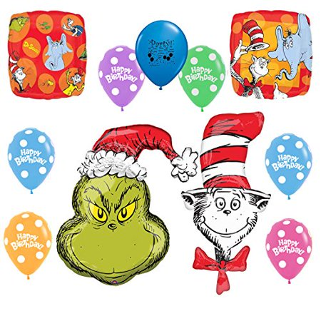 Dr Seuss And The Grinch Party Supplies Balloon Decoration Kit