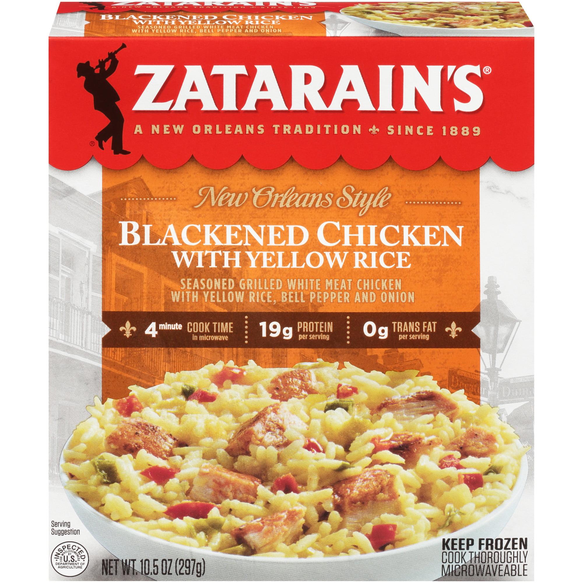 Zatarain S Frozen Blackened Chicken With Yellow Rice 10 5 Oz Walmart Com Walmart Com