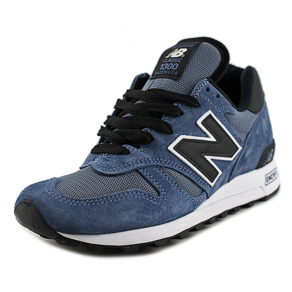 New Balance M1300 Men Round Toe Leather Blue Sneakers by New Balance