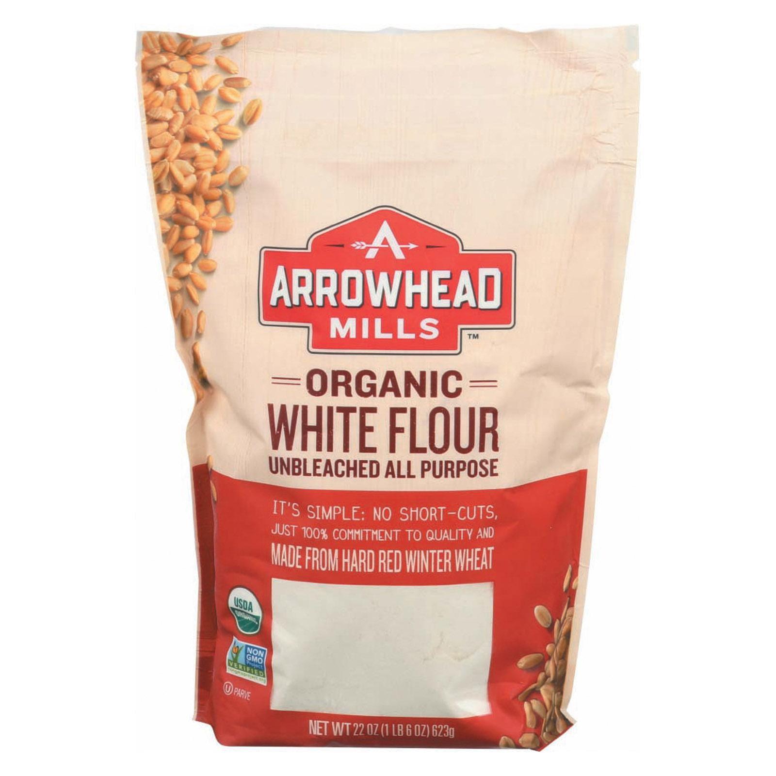 Arrowhead Mills Organic Enriched Unbleached White Flour - pack of 6 - 22 Oz.