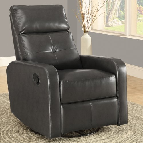Monarch Recliner Swivel Glider / White Bonded Leather