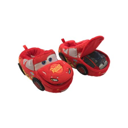 Disney Cars Toddler Boys Plush Red Lightning McQueen Slippers House Shoes](Disney Slippers)