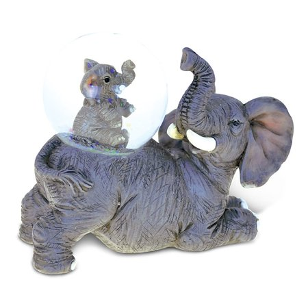 Family Snowglobe - Wild Snow Globe Elephant (45MM)