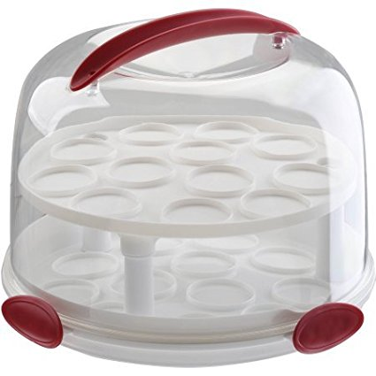 Clear Cake Carrier with Tight Clasping Latches, Accommoda...