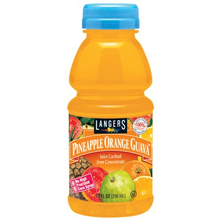 Langers Juice Drink  Pineapple Orange Guava Cocktail  10 Fl Oz  12 Count