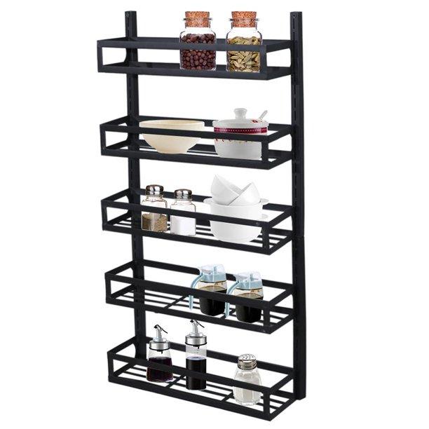 Ktaxon 5 Tier Height-Adjustable Spice Rack Shelf Organizer ...