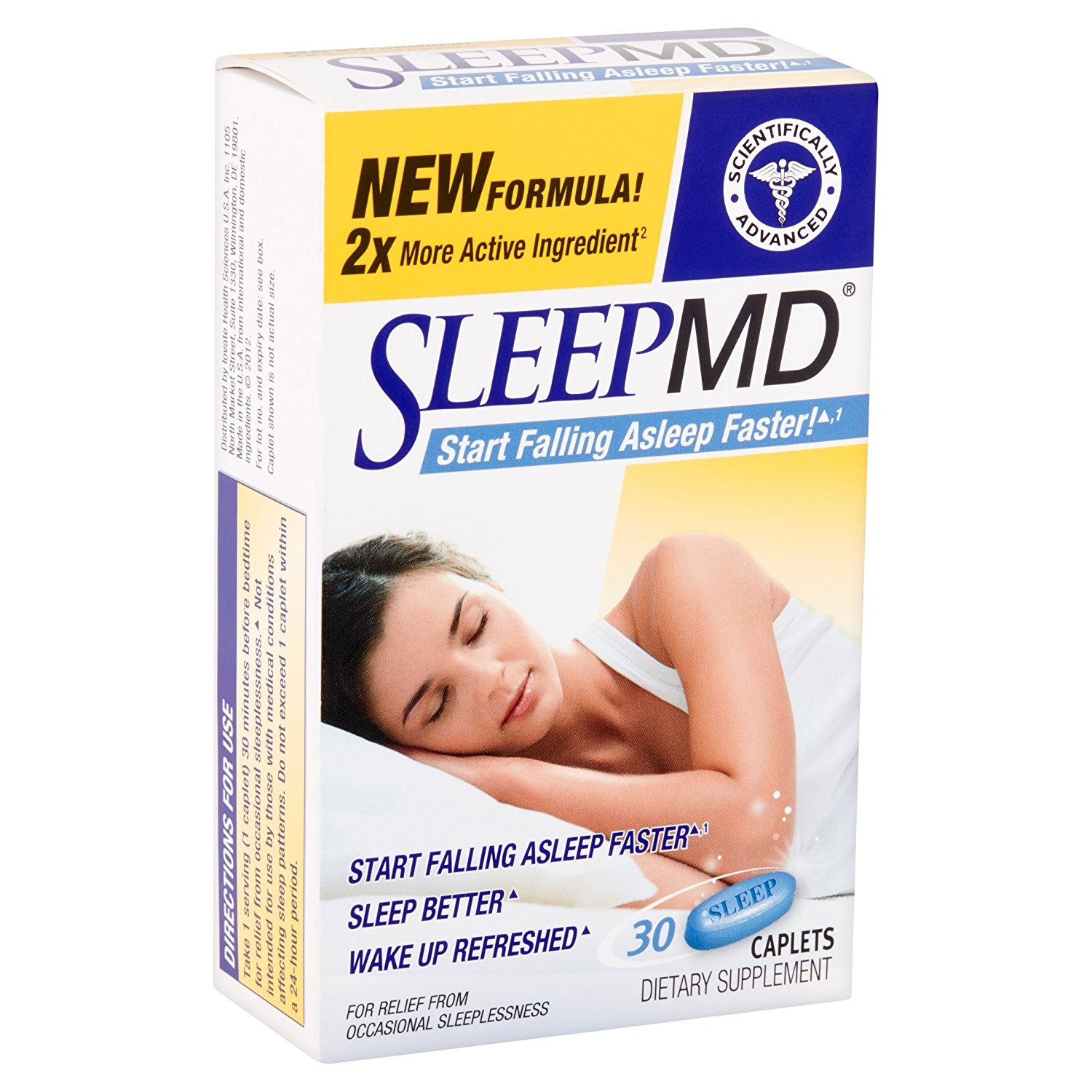 SleepMD, Caplets 30 ea Pack of 3, *PACKAGING MAY VARY* By MD Products