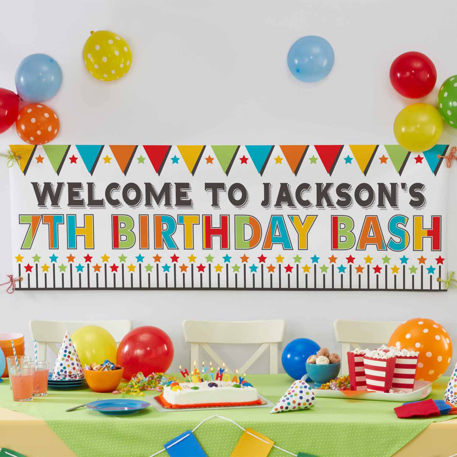 Personalized Say It Big Celebration Banner, Available in 2 Colors