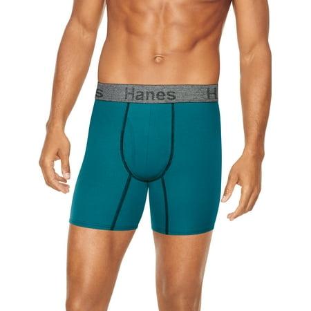 16a1b572f6f3 Hanes - Men's ComfortFlex Fit Regular Length Boxer Brief - Walmart.com