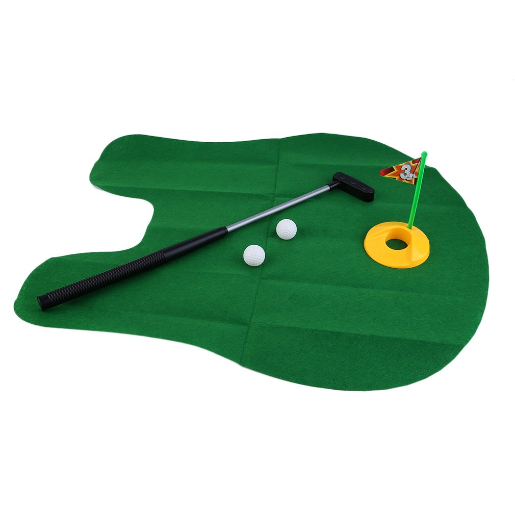 Click here to buy Funny Potty Putter Toilet Time Mini Golf Game Novelty Gag Gift Toy Mat.